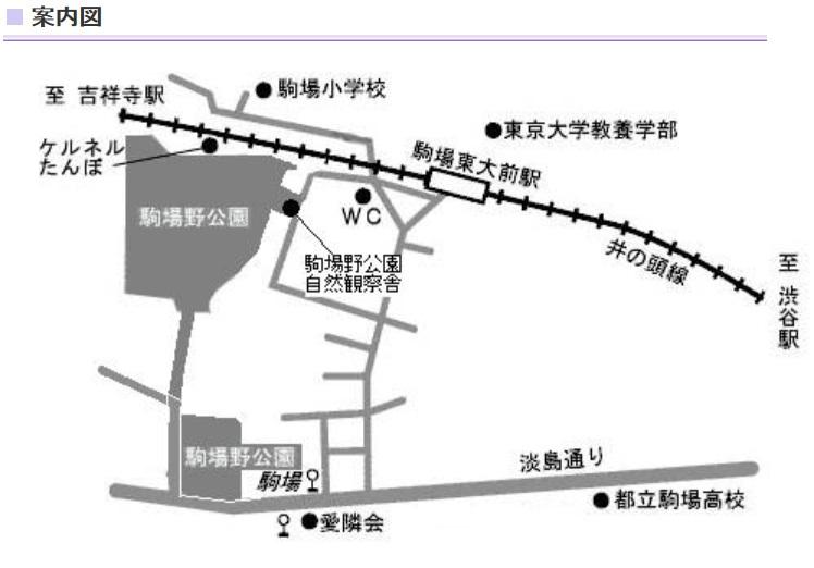 駒場野公園地図