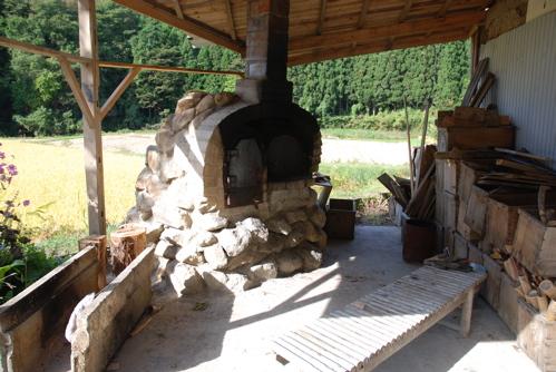 くりこま高原自然学校・松倉校の石窯
